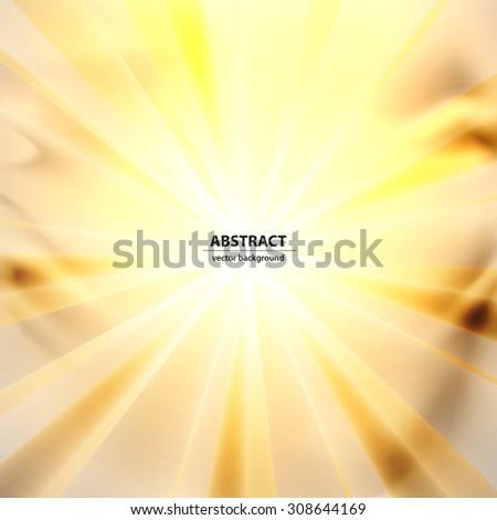 Light streaks abstract background - stock vector