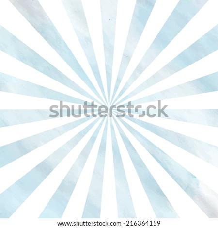 Light sunbeam watercolor retro design. Illustration made in vector. - stock vector
