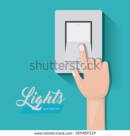 light switch design - stock vector