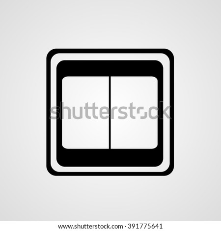 Light Switch Icon Black