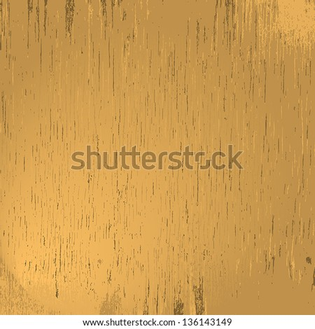Light wood grungy texture for your design. EPS10 vector. - stock vector