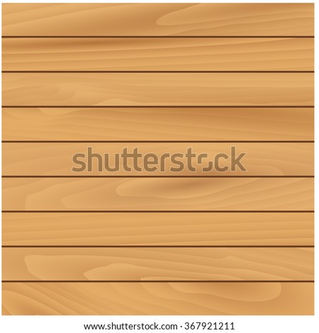 Light wooden texture natural background with narrow horizontal pine panels. For interior or construction design usage - stock vector