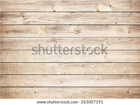 Light wooden texture with horizontal planks. Vector floor surface - stock vector