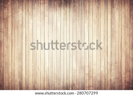 Light wooden texture with vertical planks  floor, table, wall surface - stock vector