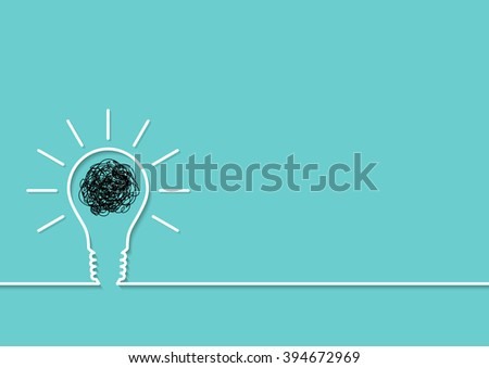 Lightbulb creative ideas with outline abstract background, vector illustration - stock vector
