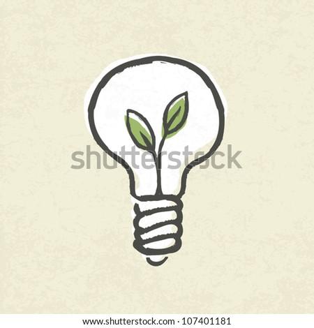 Lightbulb ecology concept. Vector illustration, EPS10 - stock vector