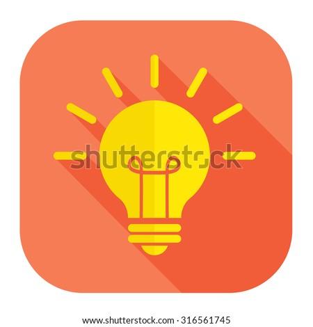 lightbulb icon - stock vector