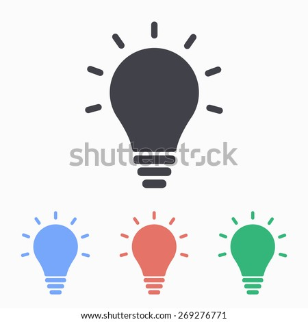 Lightbulb icon, vector illustration. - stock vector