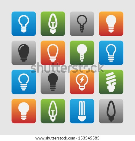 Lightbulb icons - stock vector