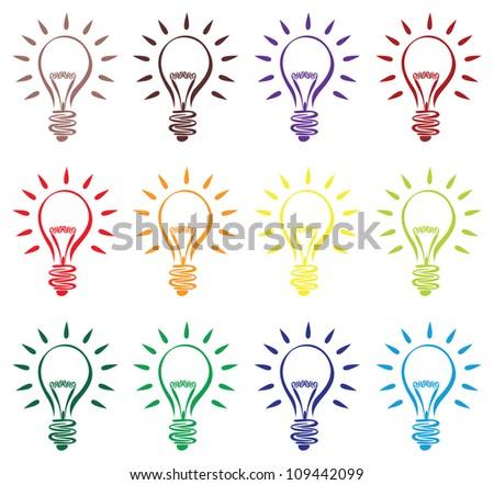 lightbulb ideas - stock vector
