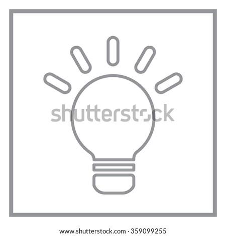 lightbulb line icon. vector design - stock vector