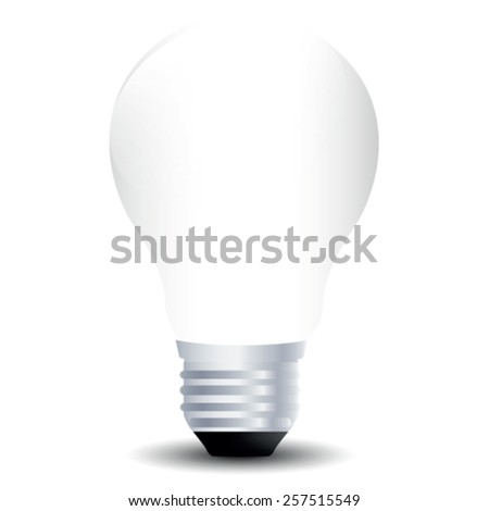 lightbulb on white - stock vector