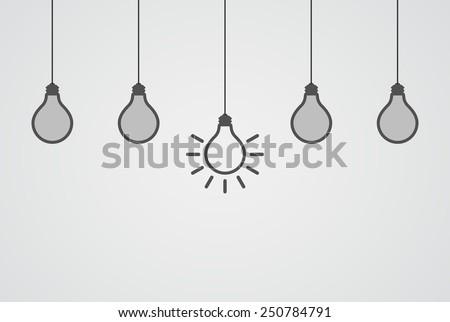 lightbulb teamwork idea concept - stock vector