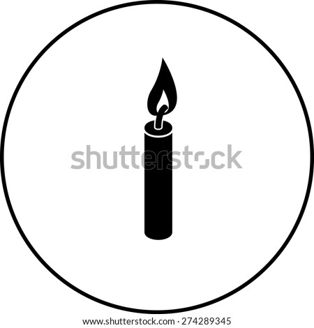 lighted candle symbol