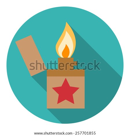 Lighter icon. Flat design style modern vector illustration.  - stock vector