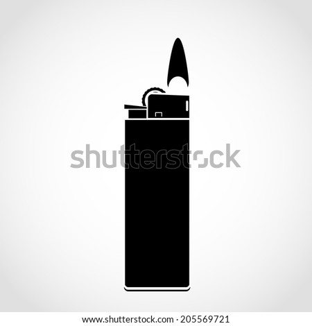 lighter icon Isolated on White Background - stock vector