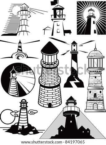 Lighthouse Collection - stock vector