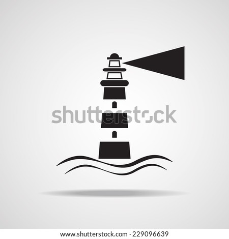 Lighthouse icon, vector EPS 10. - stock vector
