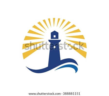 Lighthouse logo - stock vector