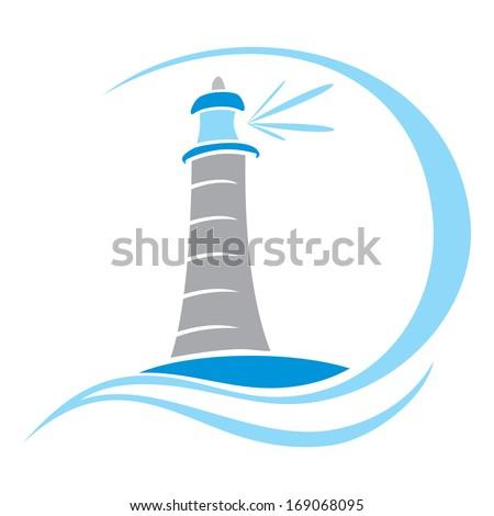 Lighthouse symbol - stock vector