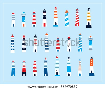 lighthouse vector - stock vector