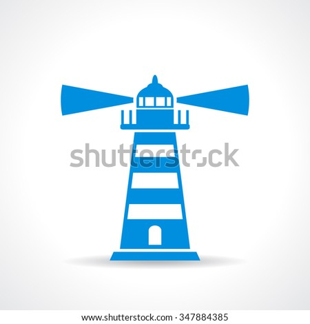 Lighthouse vector symbol isolated on white background - stock vector