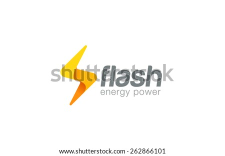 Lighting bolt Flash Logo design vector template. Fast Quick Rapid icon concept symbol. Thunderbolt Logotype. - stock vector