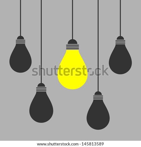lighting bulb - stock vector