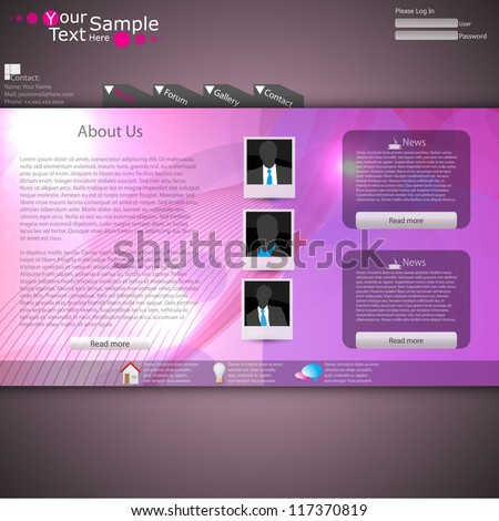 Lighting Web site design template, vector. - stock vector