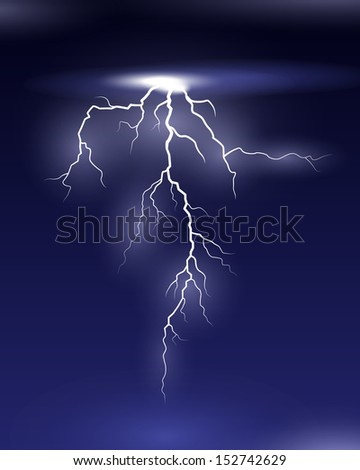 Lightning - stock vector