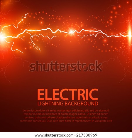 Lightning abstract background. Vector illustration.  - stock vector