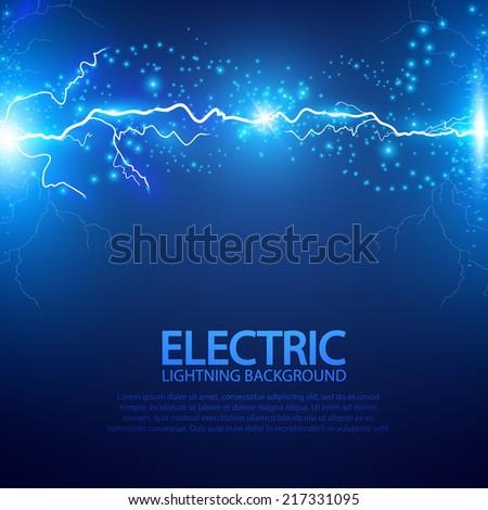 Lightning abstract background. Vector illustration.  - stock vector