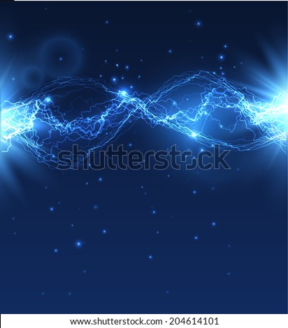 Lightning background. Vector eps10 - stock vector
