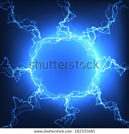 Lightning ball vector background with space for text. Eps10 - stock vector
