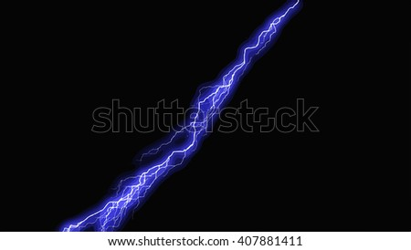 Lightning bolt at night