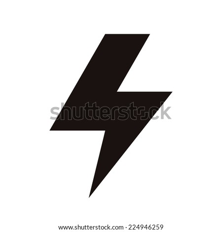 Lightning bolt icon isolated on white background - stock vector