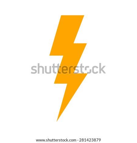 Lightning bolt, thunder bolt, lighting strike expertise flat icon for apps and websites - stock vector