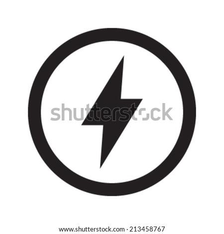 lightning bolt vector icon stock vector 213458767 shutterstock rh shutterstock com lightning bolt clipart vector lightning bolt vector png