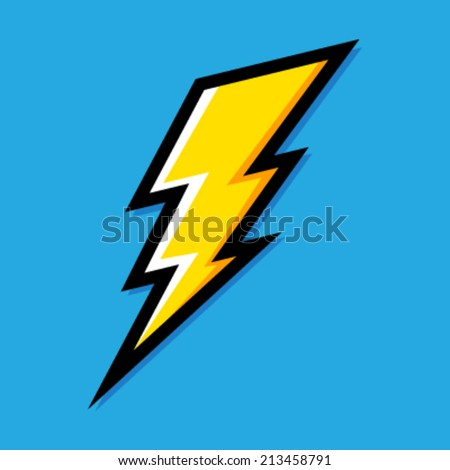 Lightning bolt vector icon - stock vector