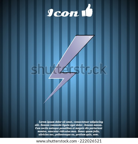 Lightning button on the background. Made in vector - stock vector