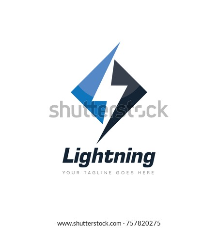 Lightning Electric Thunder Logo Design Template