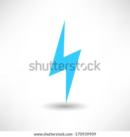 lightning icon - stock vector