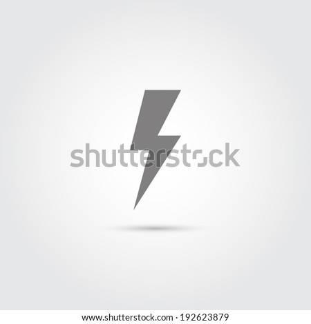 Lightning icon - Vector - stock vector
