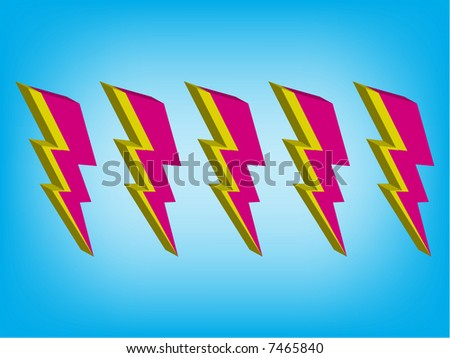 lightning illustration - stock vector