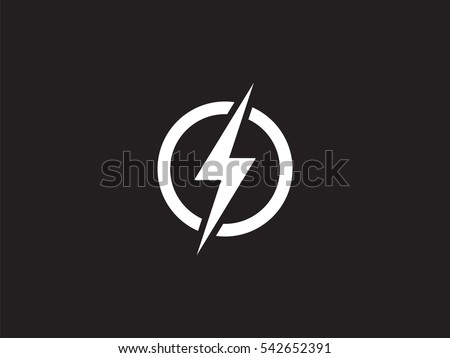 Lightning Logo Design Element Energy Thunder Stockvector 542652391
