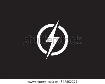 Lightning Logo Design Element Energy And Thunder Electricity Symbol Concept Bolt Sign In