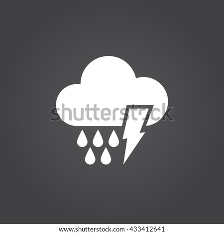 Lightning rain Icon, Lightning rain Icon EPS, Lightning rain Icon Vector, Lightning rain, Lightning rain Icon UI, Lightning rain Icon JPG, Lightning rain Icon Sign, Lightning rain icon Flat, Lightning - stock vector