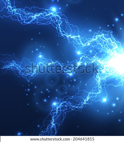 Lightning strike vector background. Eps10 - stock vector