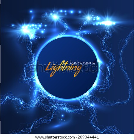 Lightning text frame background. Vector eps10 - stock vector