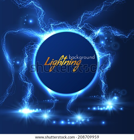Lightning vector background. Vector eps10 - stock vector